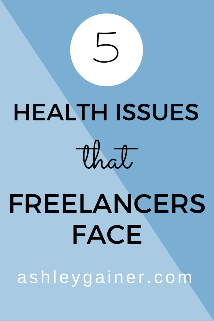 One thing we freelancers and WAHMs don't talk about much is the slew of health challenges we come up against. Click through to learn about 5 of the most common freelancer health issues and how to deal with them.