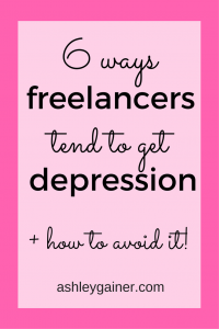 A lot of elements of freelancing lend themselves to depression. Don't let that be you!