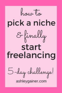 Free course! How to pick a niche for freelance writing! Loooovvve ittttt!
