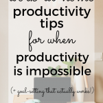 Awesome post on how to be productive as a work-at-home mom.