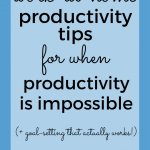 Working at home with kids can be really challenging. Use these productivity tips to get more done!