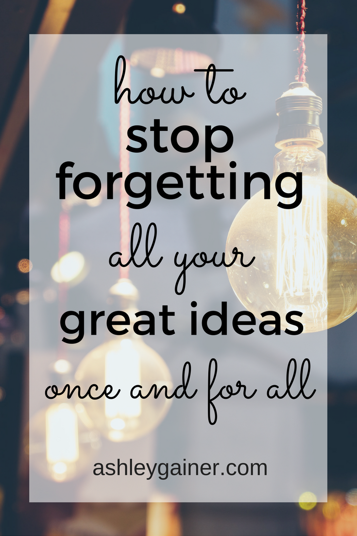 No more forgetting all your great blog post ideas. Click through to read three unusual but totally effective ways to save your ideas. It works!