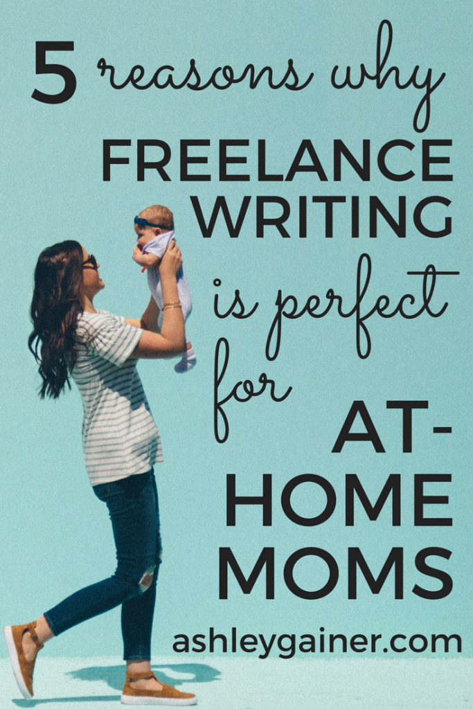 Freelance writing is a GREAT option for at-home moms. Click through to find out why and see if it'd be a good fit for you.