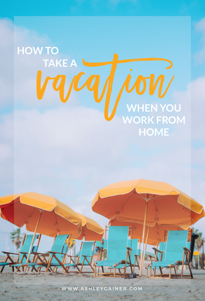 Taking a vacation when you're a WAHM can be tricky... tricky, but doable! Click through to read some great tips on making it happen for YOU :)
