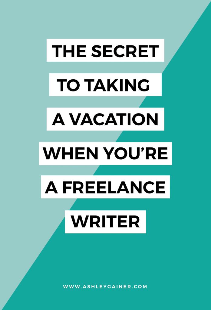 Taking a vacation when you're a freelance writer can be tricky... tricky, but doable! Click through to read some great tips on making it happen for YOU without setting off any client-bombs :)