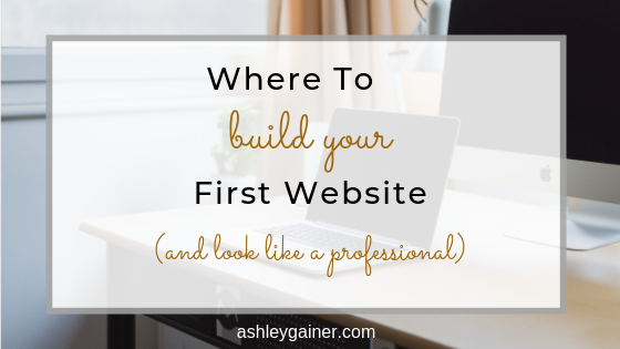 where to build your first website (and look like a professional)