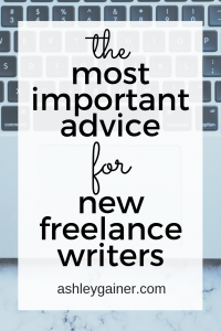 advice for new freelance writers