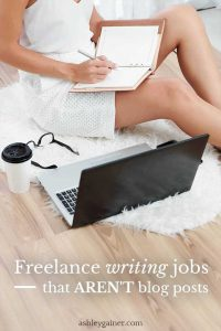 What other types of writing is there besides blog posts for freelance writers? You'd be surprised at how much there is. Click here to find out!