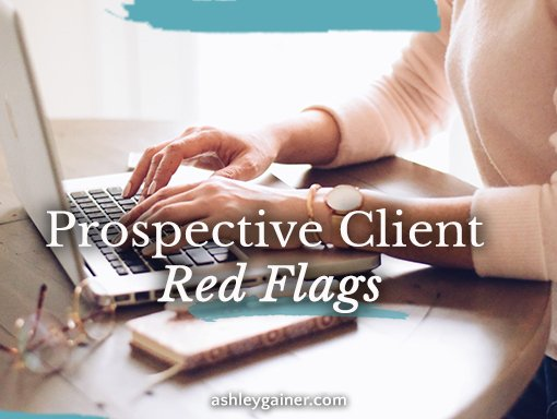Prospective client red flags