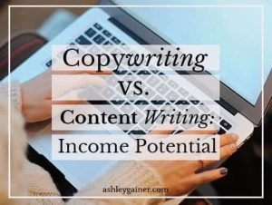 content writing vs. copywriting