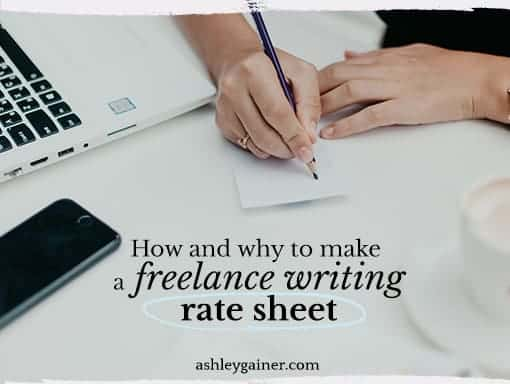 freelance writing rate guide