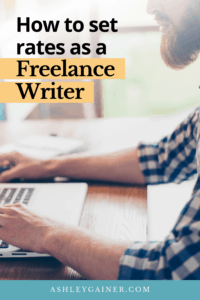 how to set rates as a freelance writer