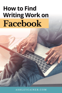 how to find writing work on Facebook