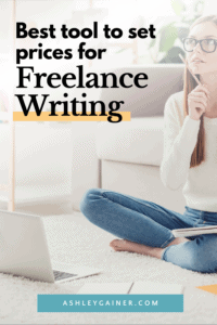 best tool to set prices for freelance writing