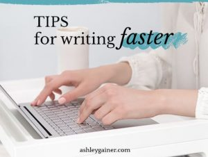 tips for writing faster