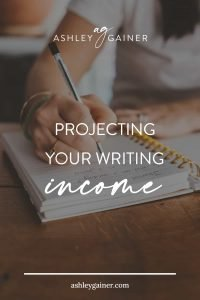 projecting your writing income