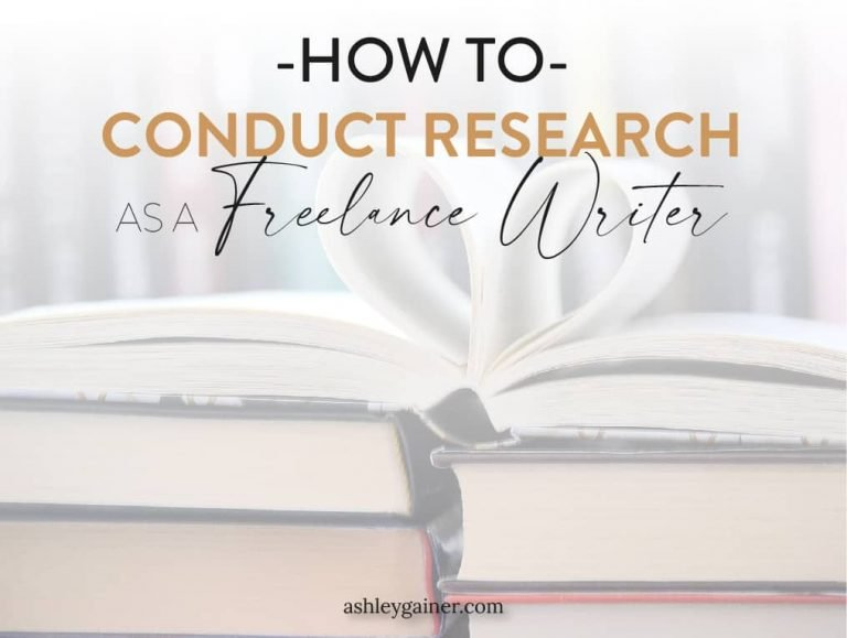 how to conduct research as a freelance writer