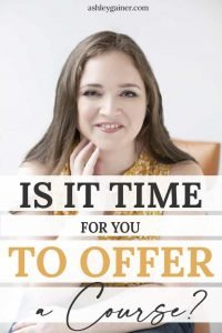 is it time for you to offer a course?