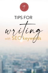tips for writing with seo keywords